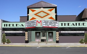 A rendering of the proposed Melba Theatre renovation.